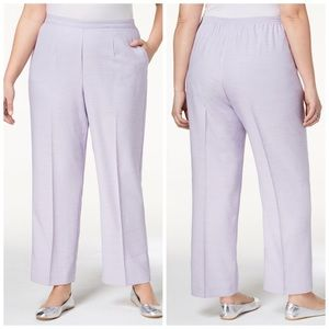 Alfred Dunner Lilac Pull On Pants Plus Size